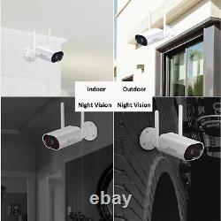 ANRAN Outdoor Wireless Home Security Camera System 8CH NVR 1TB HDD Video Record