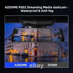 AZDOME 10 Full HD 1080P Dual Lens Car Dash Cam Recorder Touching Night Vision