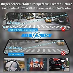 AZDOME 12Mirror Dash Cam Car DVR Streaming Media Touching Recorder Night Vision