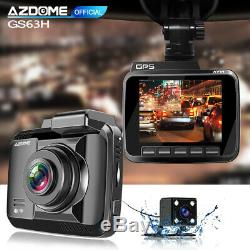 AZDOME 4K 2160P Car Dash Cam Car DVR Night Version GPS WIFI Recorder +Rear Cam
