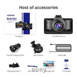 AZDOME HD 1080P Car Dash Cam LCD Screen Camera Recorder Night Vision G-Sensor