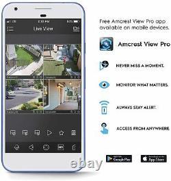 Amcrest 4K NV4216E-AI POE 16 CH Network Video Recorder Smart NVR IP Camera NoHDD