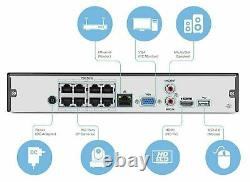 Amcrest NV2108E POE NVR 1080P/4MP/6MP/4K 8ch Network Video Recorder 2TB
