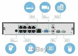Amcrest NV2108E POE NVR 1080P/4MP/6MP 8ch Network Video Recorder REFURBISHED