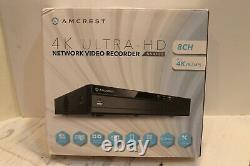 Amcrest NV4108-HS 4K (8CH 1080p/3MP/4MP/5MP/6MP/8MP) Network Video Recorder
