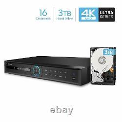 Amcrest NV5216 16CH Channel 4K HDMI Network Video Recorder NVR IP Camera 3TB