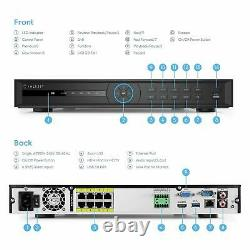 Amcrest NV5216E-8P-6TB 16CH 4K HDMI Network Video Recorder NVR IP 8-Port POE 6TB