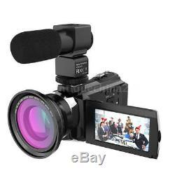 Andoer 4K 1080P 48MP WiFi Digital Video Camera Camcorder Recorder DVR+Macro Lens