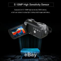 Andoer Video Camera 4K WiFi 24MP DV 30X Zoom Digital Camcorder Recorder US Plug