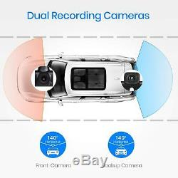 Auto-Vox A1 Uber Car DVR Dual Lens Rear Mirror Dash Cam Video Camera Recorder