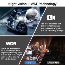 B1M Waterproof NT96663 Dual Lens 1080P 30FPS Motorbike Wifi Dash Cam Recording