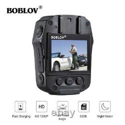 BOBLOV 1296P Built-in 32G Body Worn Mounted Camera Night Vision Cam 7H Recording