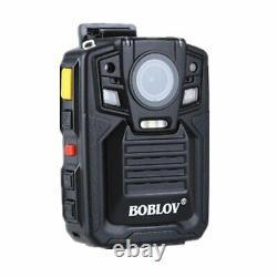 BOBLOV 1296P HD A7 64GB Wide Angle Police Security Body Worn Camera IR Recorder