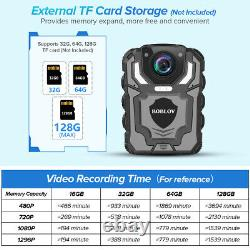 BOBLOV 1296P Wearable Police Body Camera with Audio Recording Supported Max 128G /