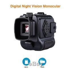 BOBLOV 5x Infrared Digital Night Vision Monocular 8GB Scope Photo Video Record