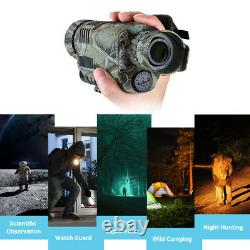 BOBLOV 5x40 Infrared Night Vision Monocular Camera Camcorder with 8GB DVR Record