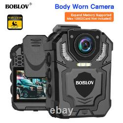 BOBLOV Full HD Body Camera With Audio Recording Night Vision For Law Enforcement