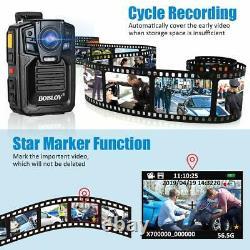 BOBLOV HD 1296P HD 64GB Wide Angle Police Security Body Worn Camera IR Recorder