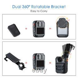 BOBLOV WA7-D 64GB HD 1296P 2.0 Body Worn Camera Recorder For Law Enforcement