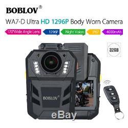 BOBLOV WA7-D HD 1296P 32GB Body Camera Recorder Remote Control Night Vision Hot