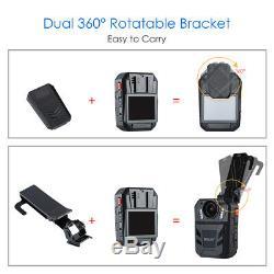 BOBLOV WA7-D HD 1296P 64GB Body Worn Recorder Remote Control 170°FOV for Police