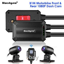 Blueskysea B1M 2 Channels 1080P Motorbike Wifi Dash Cam Recorder Loop Recording