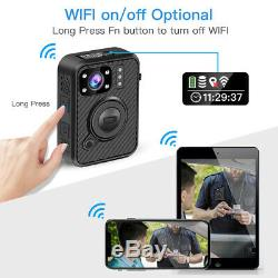 Boblov 1440P Body Worn Camera 64GB WiFi GPS Security Pocket Mini Recorder Action