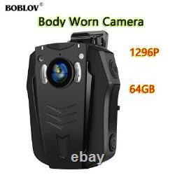Boblov PD70 1296P 32/64GB WiFi Wearable Body Camera Audio Recording Night Vision
