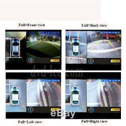 Car Bird View Panoramic 4 HD Cameras Recorder system Night Vision DVR 360 degree