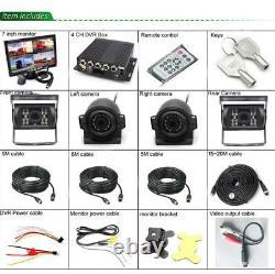 Car DVR MDVR Video Recorder 7 Car LCD Monitor4x Night Vision Camera 4CH H. 264