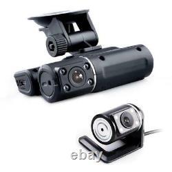 Car Dash Cam Dual Camera DVR HD 1080P Lens Video Recorder Night Vision Camcorder