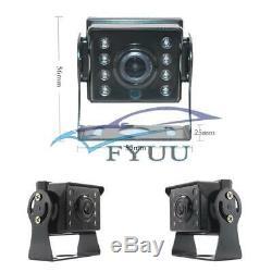 Car Truck 360° 4CH 7'' AHD Monitor DVR Video Recorder+4 Pcs Night Vision Cameras