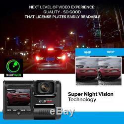 Car dvr video recorder cam dual cameras with gps wifi dash cam for taxi drivers