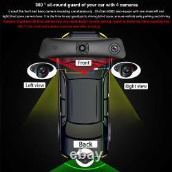 Dash recorder 4 cameras Android Rearview Mirror 12 inch screen car DVR Cameras