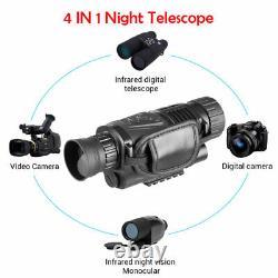 Digital Hunting Night Vision Telescope Portable IR Camera Video Record Monocular