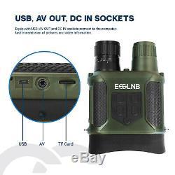 Digital Infrared Illuminator Night Vision Binoculars Record Video Adjustable32G