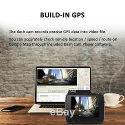 Dual Lens WiFi Car DVR Recorder FHD 1080P Front+VGA Rear 2160P 4k gps Dash Cam