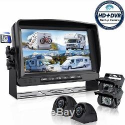 ERapta Backup Camera DVR Wired 9 Monitor Car Parking Rear Side View Record HD