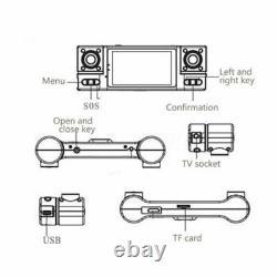 F600 2.7 Dual Lens 1080P Car Dash Cam Camera DVR Video Night Vision Recorder AU