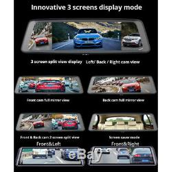 FHD 1080P Touch Screen Car DVR Camera Recorder Mirror WIFI Night Vision ADAS GPS