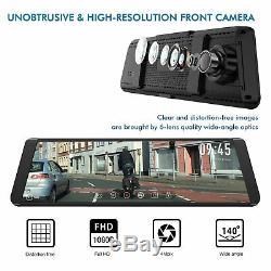 FHD 1296P Car DVR 9.88 Dual Lens Rearview Mirror Dash Cam Camera Video Recorder
