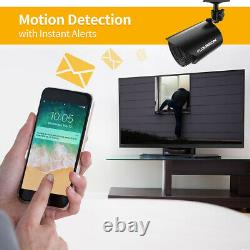 FLOUREON 8CH 1080P DVR Security Camera 5in1 Digital Video Recorder Night Vision