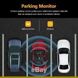 GPS Dual Lens Vehicle Car DVR Dash Cam + Night Vision Rear Video Camera Recorder