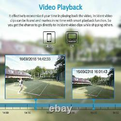 HD 1080P CCTV Security Camera System Outdoor 5IN1 DVR 2MP 8IPC with Hard Drive