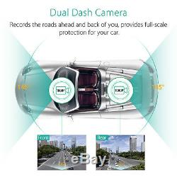 HD 1080P Dual Lens Vehicle Front &Rear view Camera Recorder Car DVR Dash Cam