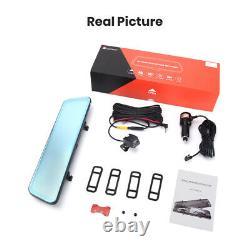 HD 12'' Car DVR Rear View Video Recorder Dash Cam Night vision Rearview Mirror