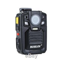 HD 1296P 33MP 64GB Body Worn Camera DVR Video Recorder 140° IR + External Lens