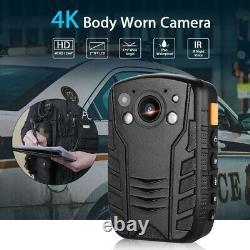 HD 4K 1296P Body Worn Camera Pocket Security IR Night Vision Recorder Audio DVR