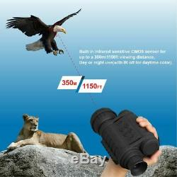 HD Infrared Night Vision Monocular IR Telescope 6x50 Zoom Record Thermal Scope