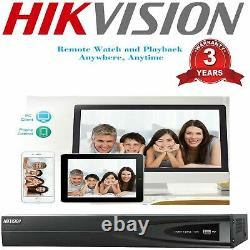HIKVISION NVR IP POE System 4/8/16CH 4K 8MP Network CCTV Video Recorder Home